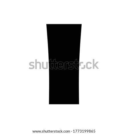High ball glass icon.flat vector graphic in white background
