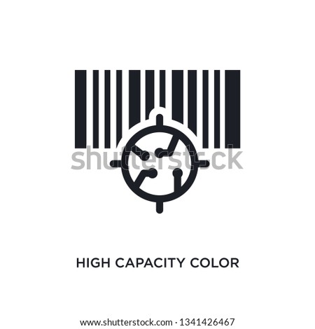 high capacity color barcode isolated icon. simple element illustration from artificial intellegence concept icons. high capacity color barcode editable logo sign symbol design on white background.