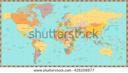 Vintage world map vector download free vector art stock high detail old world mapl elements are separated in editable layers clearly labeled gumiabroncs Choice Image