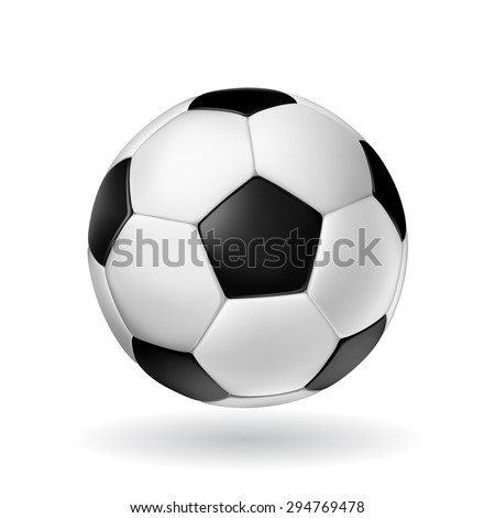 high detail vector soccer ball