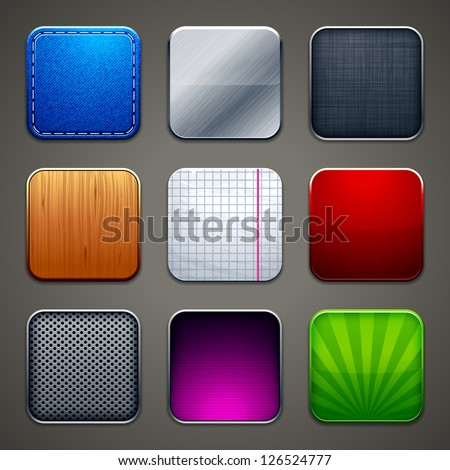 High detailed backgrounds for apps icons. Vector illustration.