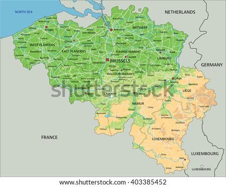 Free Vector Map of Belgium Free Vector Art at Vecteezy