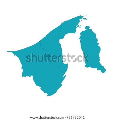 high detailed blue map of