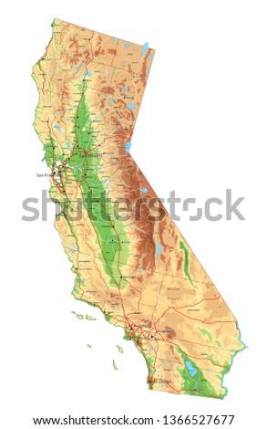 high detailed california