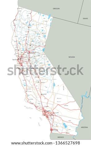 high detailed california road