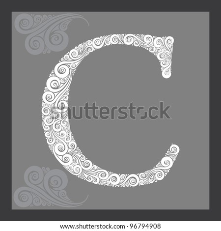 Capital Letters in Calligraphy Capital Letter c