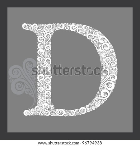 Capital Letters in Calligraphy Capital Letter d
