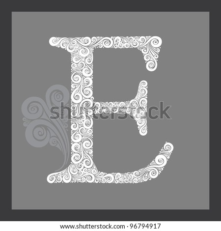 Capital Letters in Calligraphy Capital Letter e