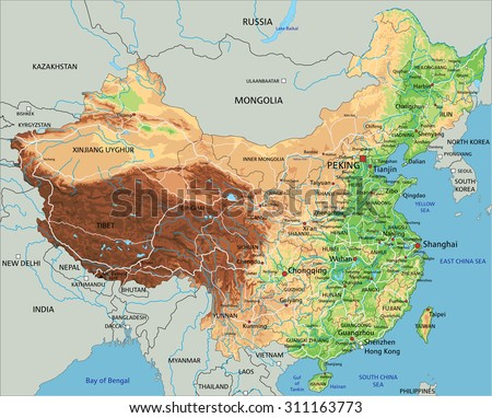 high detailed china physical