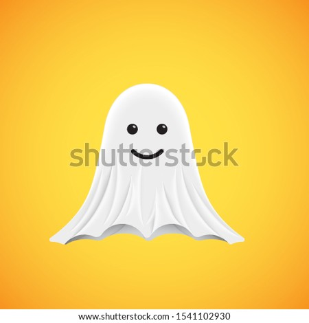 High-detailed cute ghost emoticon, vector illustration Сток-фото ©