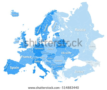 Free germany map vector high detailed europe political map with regions borders gumiabroncs Images