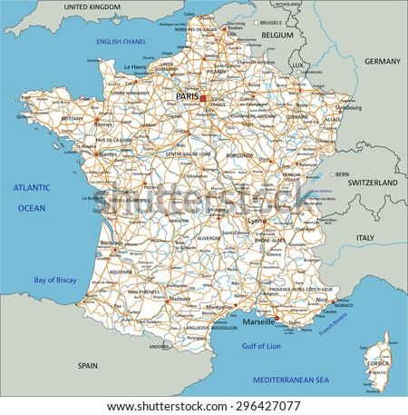 Road Map Of France And Italy.Lyon Map Download Free Vector Art Stock Graphics Images