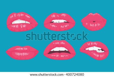 high detailed glossy lips and