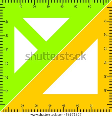 stock vector : high detailed illustration of a wooden ruler with accurate