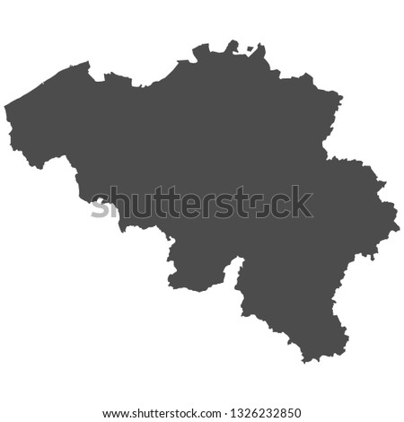 High detailed isolated map - Belgium