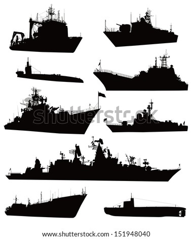 high detailed military ship