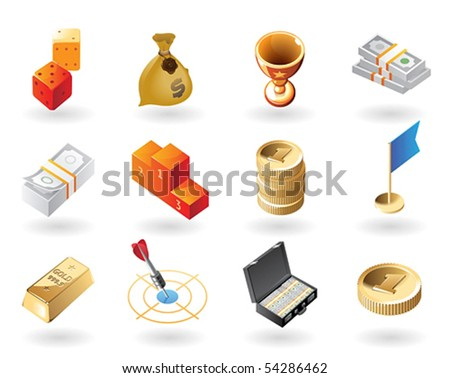 High detailed realistic vector icons for award and success - stock vector