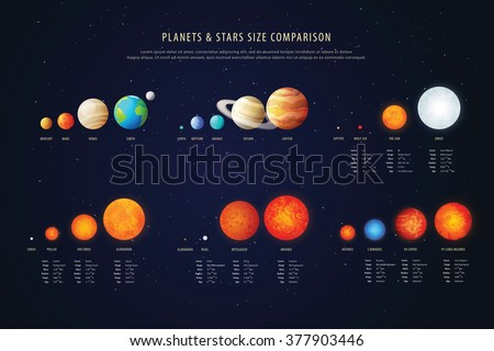 high detailed stars comparison