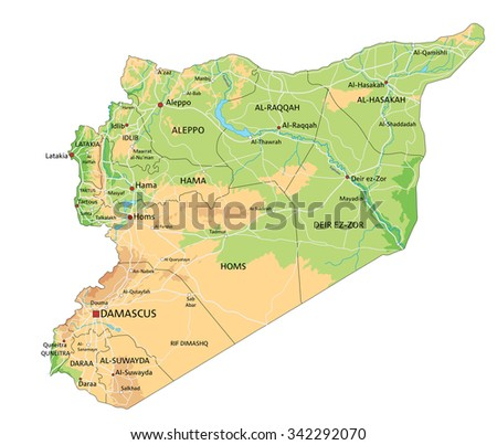 Free vector map of syria free vector art at vecteezy high detailed syria physical map with labeling gumiabroncs Images