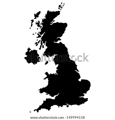 High detailed United Kingdom vector map.