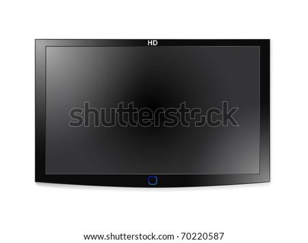 High-detailed vector illustration of plasma LCD TV