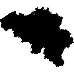 High detailed vector map - Belgium
