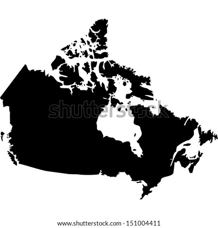 High detailed vector map - Canada