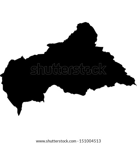 High detailed vector map - Central African Republic