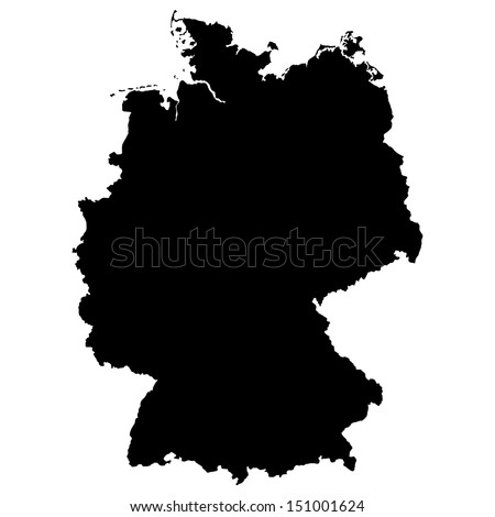 High detailed vector map - Germany
