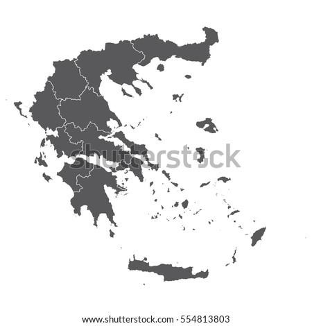 High detailed vector map - Greece
