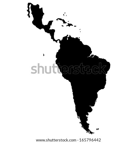 High detailed vector map - Latin America