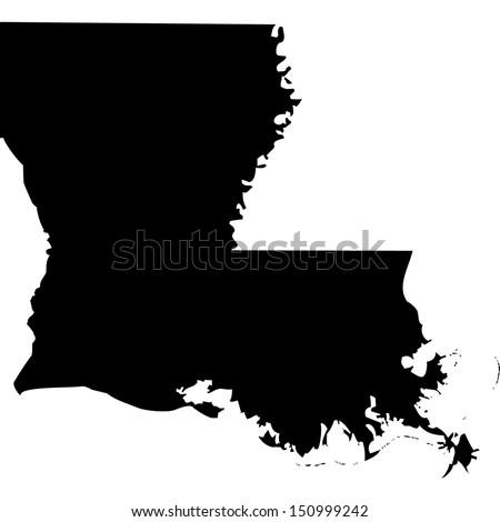 High detailed vector map - Louisiana
