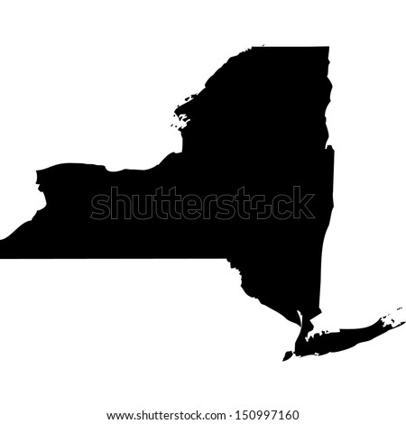 High detailed vector map - New York