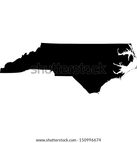 High detailed vector map - North Carolina