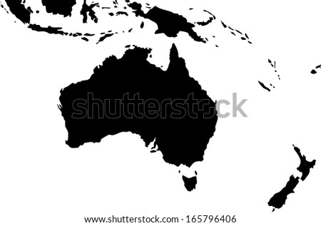 High detailed vector map - Oceania