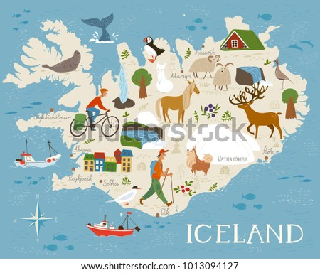 high detailed vector map of