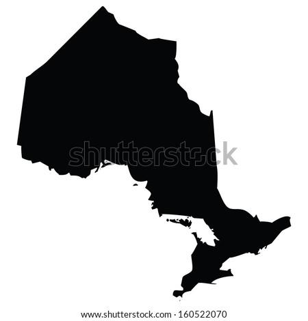 High detailed vector map - Ontario