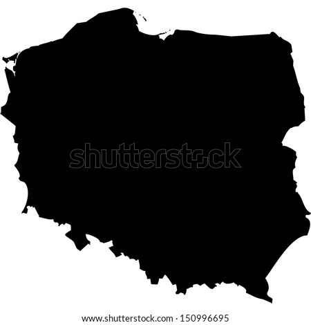 High detailed vector map - Poland