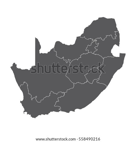 High detailed vector map - South Africa