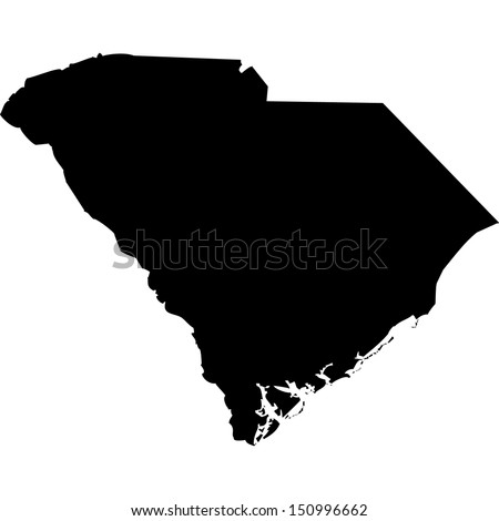 High detailed vector map - South Carolina