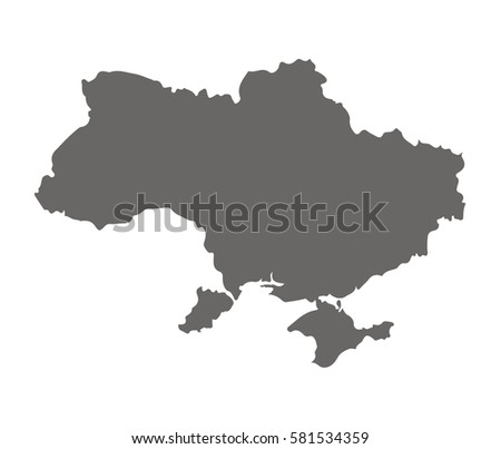 High detailed vector map - UKraine