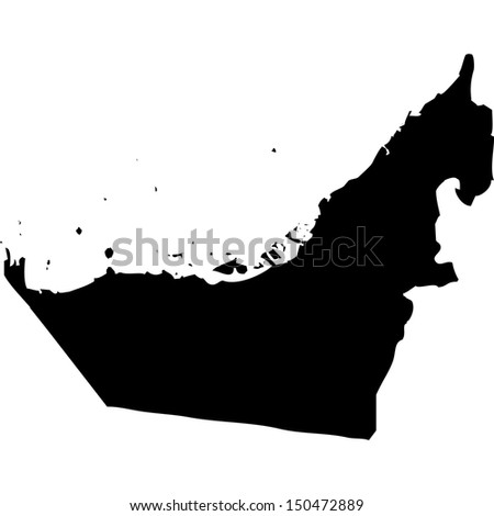 High detailed vector map - United Arab Emirates