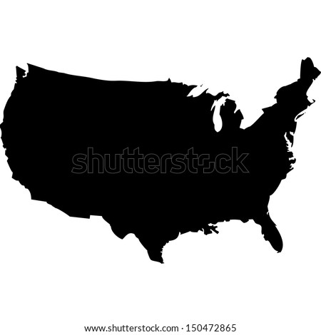 High detailed vector map - United States  Stockfoto ©