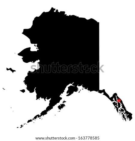 High Detailed Vector Map With The Capital City Alaska Ez Canvas