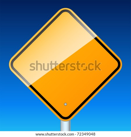 High-detailed vector sign isolated on a blue sky.