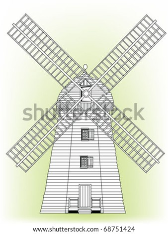 high detailed wind mill