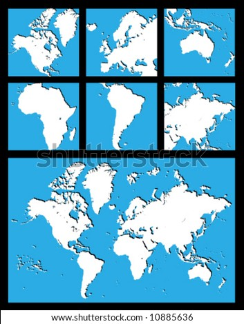 map of the world continents. world map continents labeled.