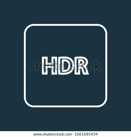 high dynamic range icon line