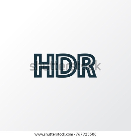 high dynamic range icon line