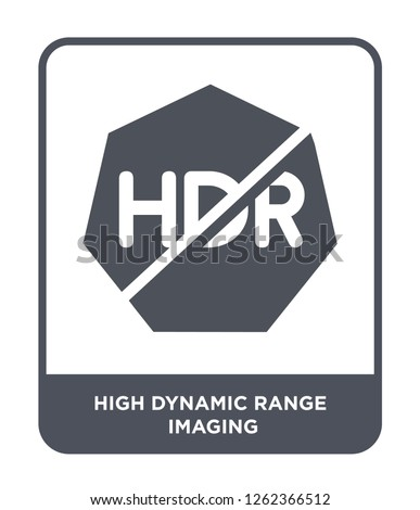 high dynamic range imaging icon vector on white background, high dynamic range imaging trendy filled icons from Ultimate glyphicons collection, high dynamic range imaging simple element illustration